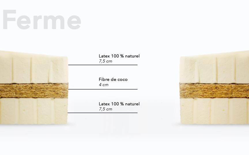 matelas ferme en fibre de coco et latex naturel